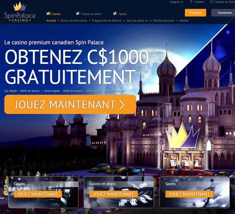 Roulette en ligne au Spin Palace casino